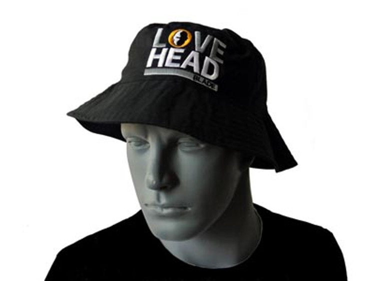 "HB ""Love Head"" Bucket Hat (Black)"