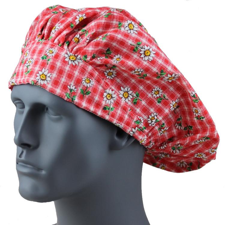 Bouffant Style Scrub Cap - Daisyland - By NoMoreKnots