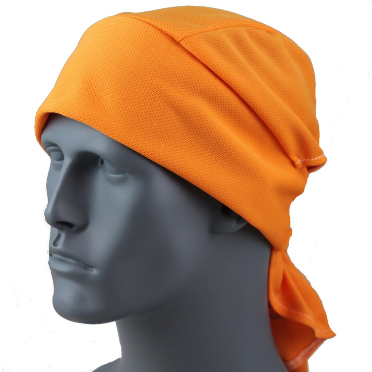 Orange Softspun Performance Wrap / Doo Rag