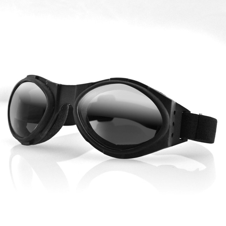 Goggles - Motorcycle - Bugeye - Black Frame - Smoked Reflective Lens