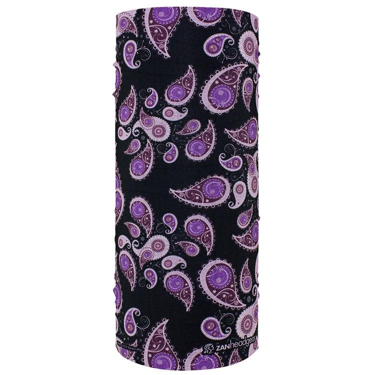 Motley Tube, 100 Polyester, Purple Paisley, Multifunctional Headwear