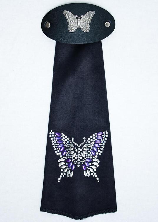 Spandex HairTube - Purple Butterfly