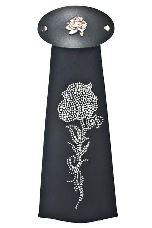 Spandex HairTube - Silver Rose