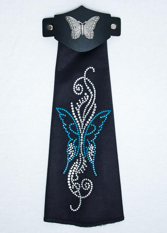 Spandex HairTube -Turquoise Butterfly Vine