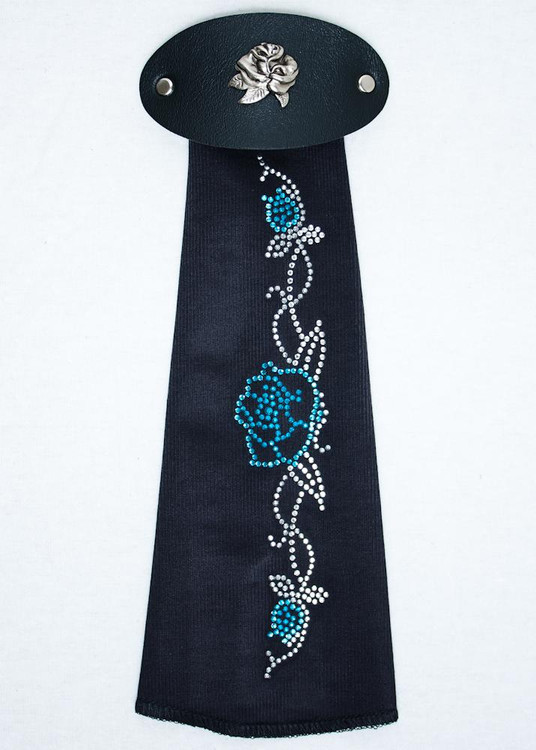 Spandex HairTube -Turquoise Rose On Vine