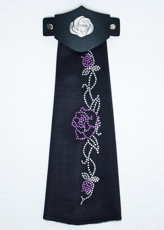Spandex HairTube - Purple Rose On Vine