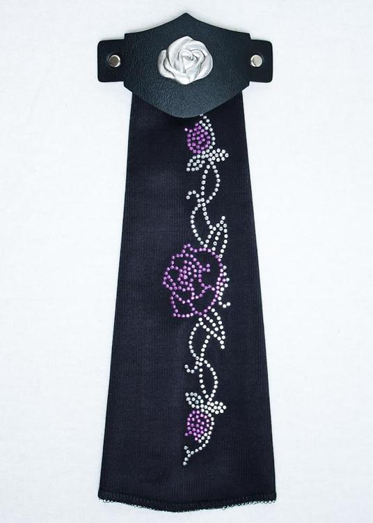 Spandex HairTube - Purple Rose On Vine