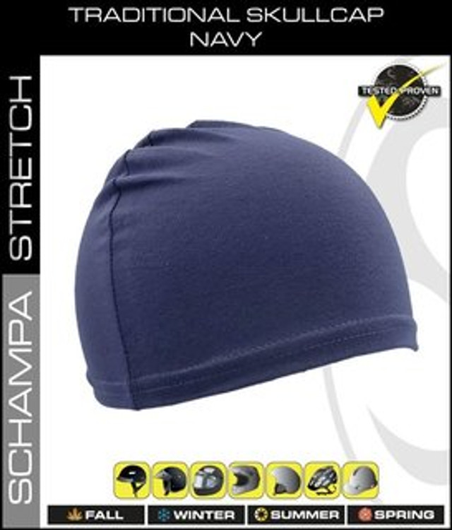 Traditional Stretch Skullcap - Navy
