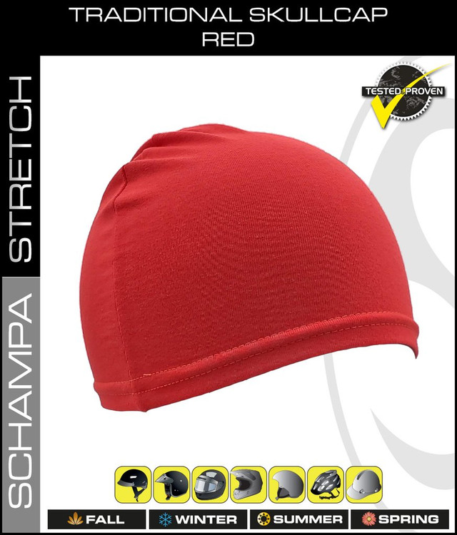 Traditional Stretch Skullcap - Red