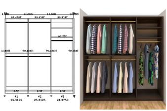 Linear closet, custom closet, closet free shipping, closet,  Athos linear closet