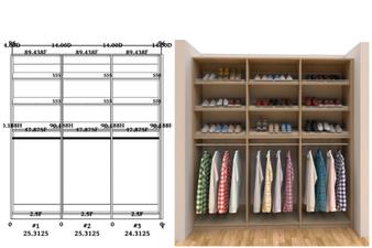Linear closet, custom closet, closet free shipping, closet,  Naples linear closet