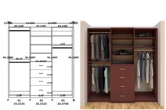 Linear closet, custom closet, closet free shipping, closet, Florence linear closet