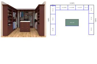 Master closet, custom closet, closet free shipping, closet, walk in closet,  Nantes Master closet