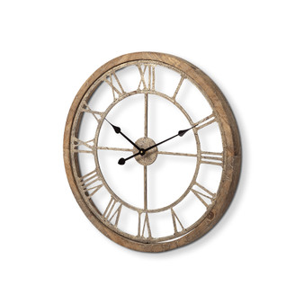 "63080 - Mething II 25"" Oversize Farmhouse Wall Clock"