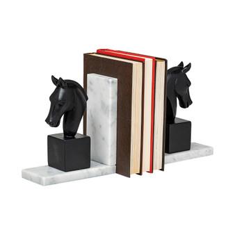 68931 - Hidalgo Black Majestic Horse Bust Bookend