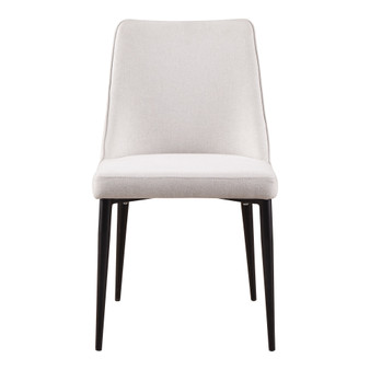 LULA DINING CHAIR OATMEAL-SET OF TWO