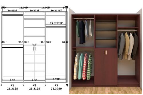 Linear closet, custom closet, closet free shipping, closet, Athens linear closet
