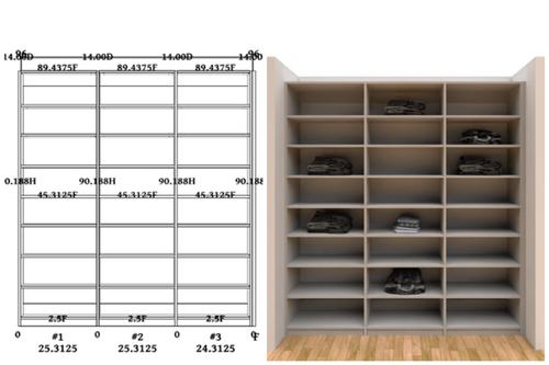 Linear closet, custom closet, closet free shipping, closet, Versailles linear closet
