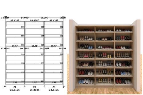 Linear closet, custom closet, closet free shipping, closet, Venice linear closet