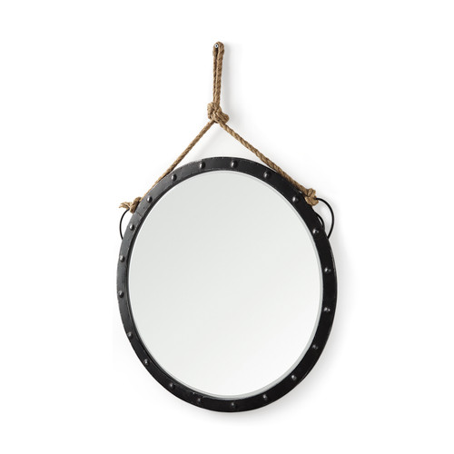 "37139 - Pendula 27"" Round Metal Frame Mirror"