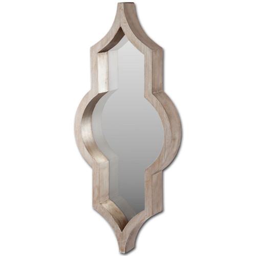 37183 - Tamanar 15x34 Brown Wood Frame Mirror