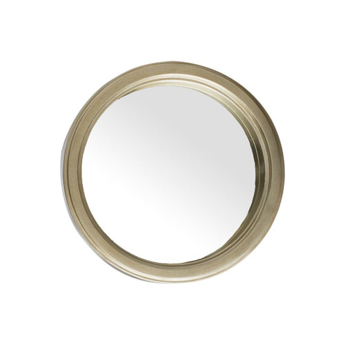 "37253 - Avalon 15"" Round Gold Wood Frame Mirror"
