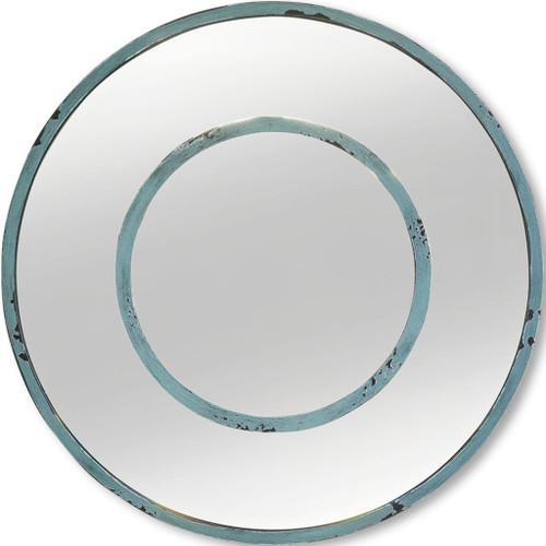 "37262 - Blanshard 20"" Round Tourquise Wall Mirror"