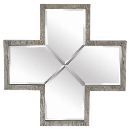 37275 - Lancaster 17x17 Plus Grey Wood Frame Mirror