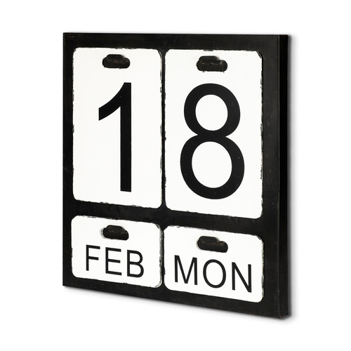 44176 - Dario Metal Wall Calendar with changeable Date Day Month
