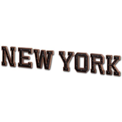 "44237 - Archera ""New York"" Metal Battery Powered LED Sign"