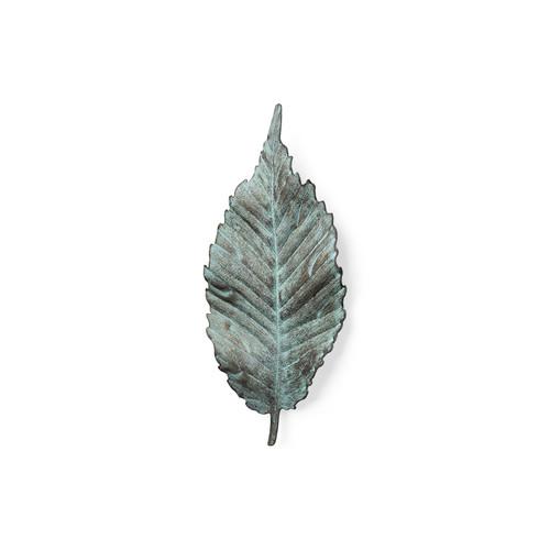 """44248 - Brattea 12""""H Small Metal Leaf Wall Art"""