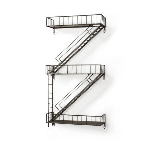 "50079 - Gastown 42""H Wall-Mounted Fire Escape Shelf"