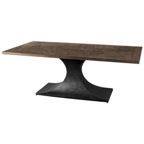 50449-AB - Maxton II 79x39 Rectangular Brown Solid Wood Top Black Metal Base Dining Table