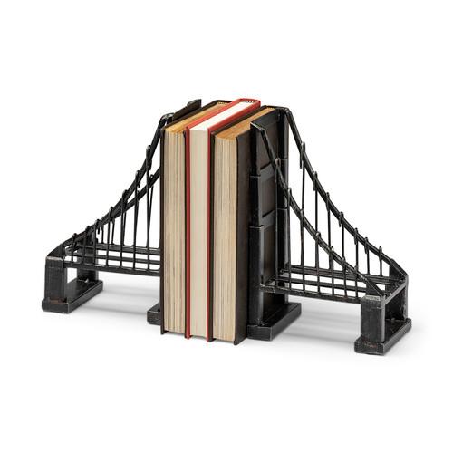 57157 - Suspension Wrought Iron Suspension Bridge Bookend