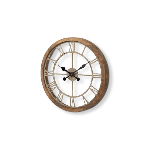 "63081 - Mething III 19"" Large Farmhouse Wall Clock"