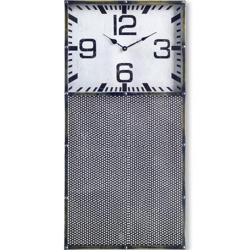 63105 - Hibberson Rectangular Large Industrial Wall Clock