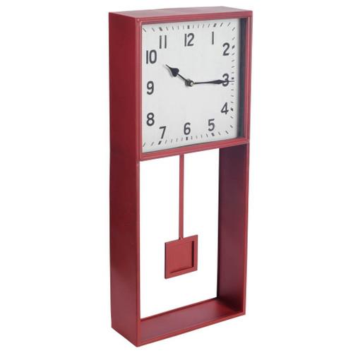 63126 - Brisbane Rectangular Modern Wall Clock