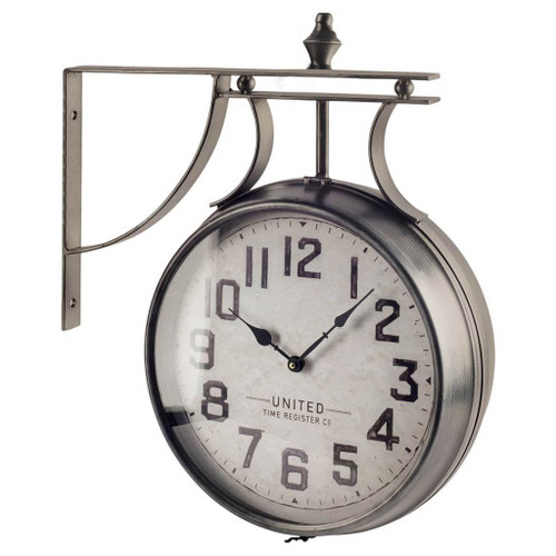 """63160 - Lindsay 19"""" Round Large Industrial Wall Clock"""