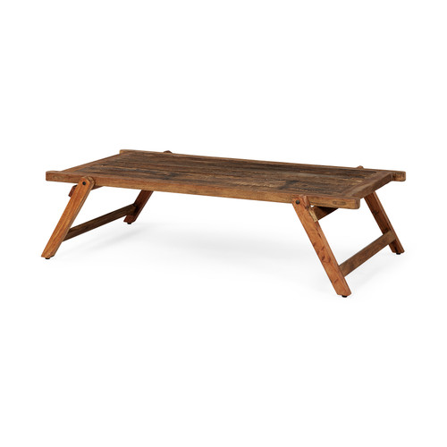 67522 - Armee II 60x30 Rectangular Naturally Finished Reclaimed Wood Coffee Table