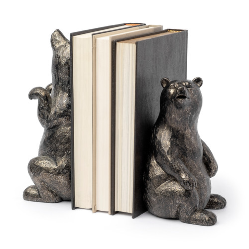 68069 - Sleuth Grizzy Bear Bookends