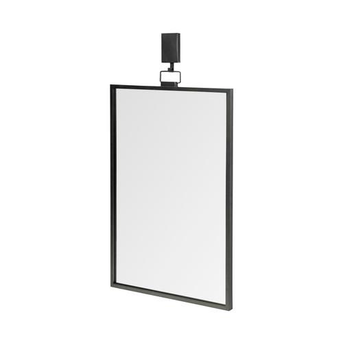 68296 - Grimm 24x43 Rectangular Black Metal Frame Mirror