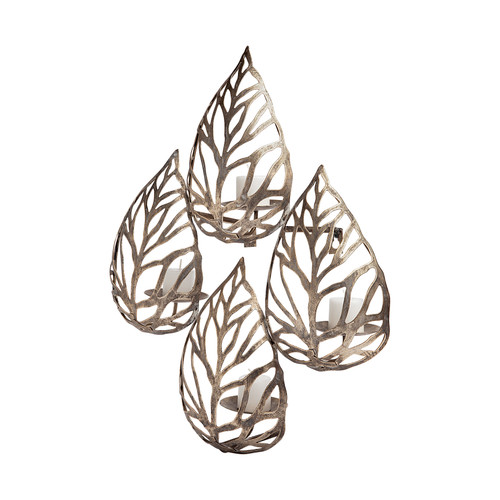 68437 - Lana II Set of 4 Champagne toned Wall Candle Holders