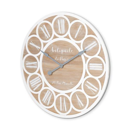 """68519 - Cirque 36"""" Round Oversize Farmhouse Wall Clock"""