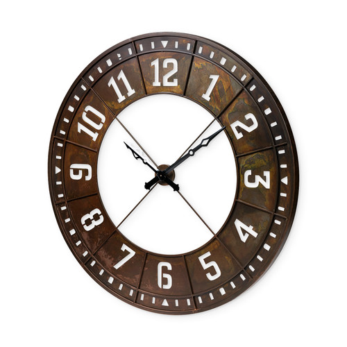 """68526 - Newcastle 56.5"""" Giant Oversize Industrial Wall Clock"""