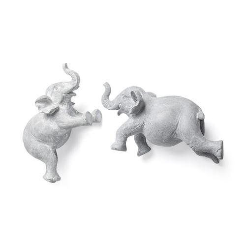 68581 - Maynard I  Set of 2 Grey Elephant Wall Decorations