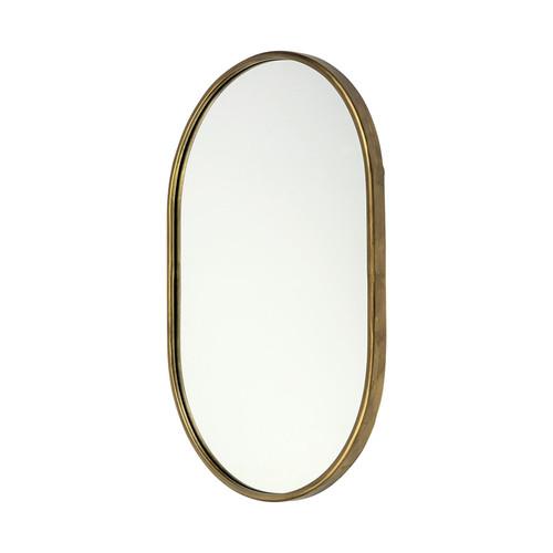 "68733 - Sylvia I 24""x35"" Oval Gold Metal Frame Wall Mirror"