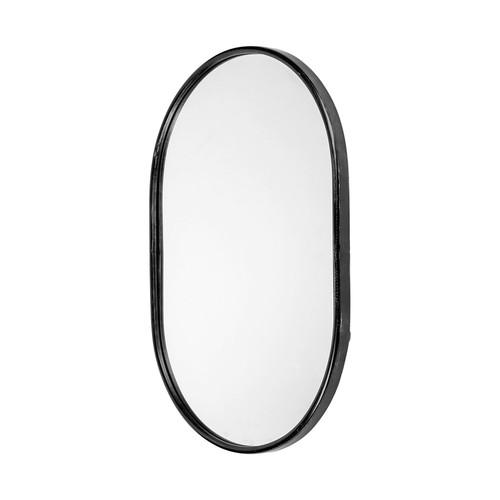 "68738 - Sylvia II 24""x35"" Oval Black Metal Frame Mirror"