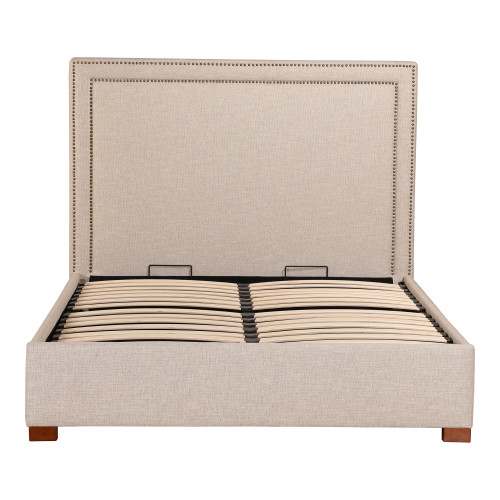 KENZO STORAGE BED KING ECRU