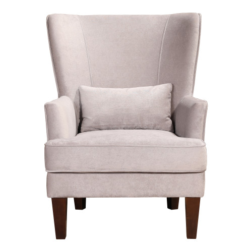 PRINCE ARM CHAIR GREY VELVET