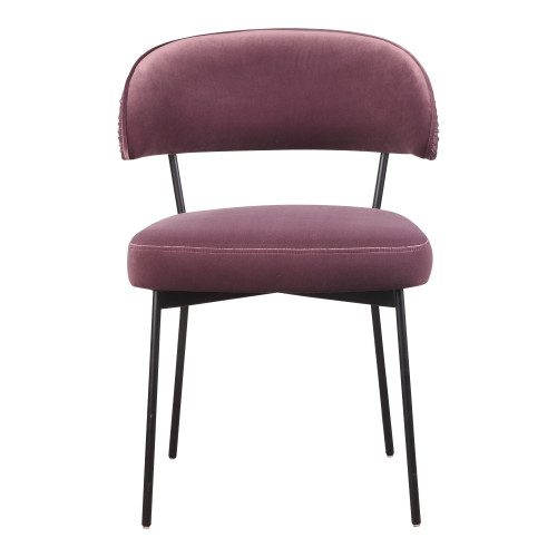 DOLCE DINING CHAIR PURPLE VELVET